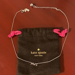Kate Spade Mrs. necklace silver